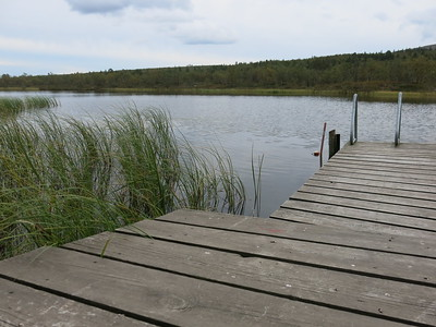The lake, directly linked to the sauna