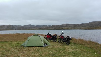 Our camp spot in Skarsvag
