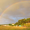 Rainbow over our camp site