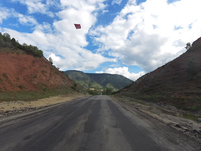 Flying the Turkish colors over this pass