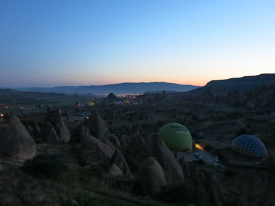 5AM and Göreme wakes up to the sound of about 90 balloons being inflated
