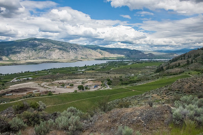 Osoyoos Town and Lake, close to the US border in the Okanogan Valley