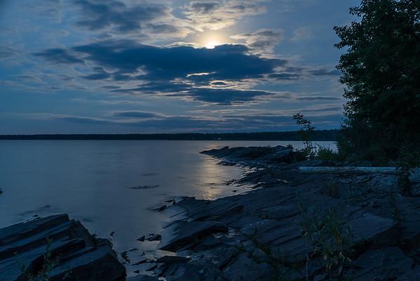Moon over Union Bay