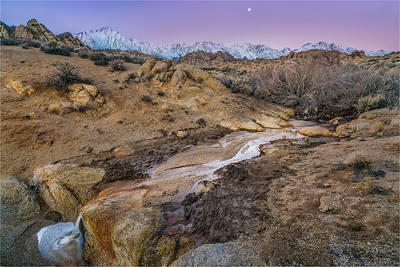 Winter Dawn, Mt. Whitney and the Alabama Hills, California