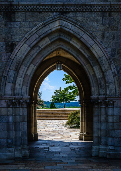 Bryn Athyn Cathedral - Exterior of Chuch- Arches-0077