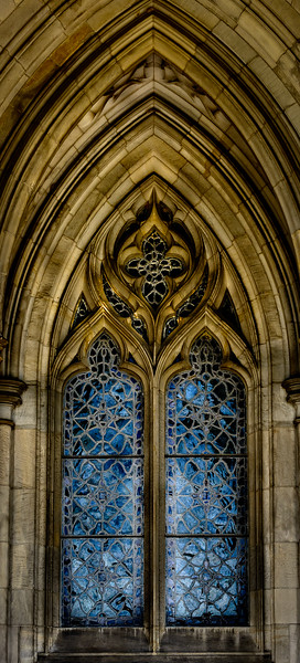 Bryn Athyn Cathedral - Blue Chapel Window 2-0105