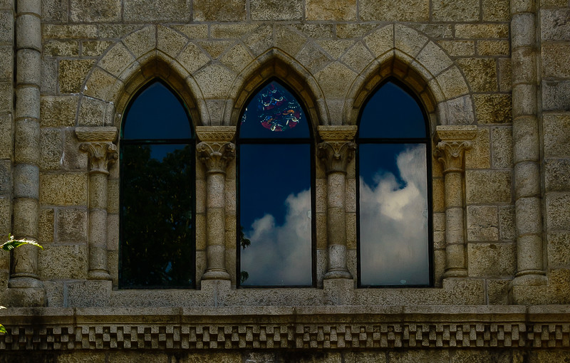 Bryn Athyn Cathedral - Exterior of Chuch- Windows-0076