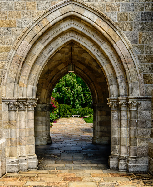 Bryn Athyn Cathedral - Arches to Garden -0092