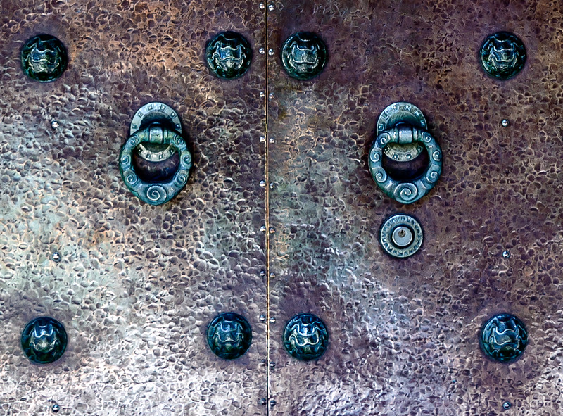 Bryn Athyn Cathedral - Bronze Door Handles-0042