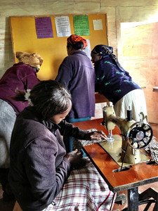 The mothers of Njabini, Inc. at the apparel workshop