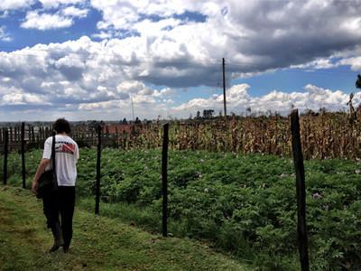 Walking to the workshop in Njabini, Kenya