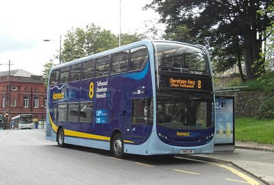 606 - SN61CZW - Norwich (Castle Meadow) - 30.7.12