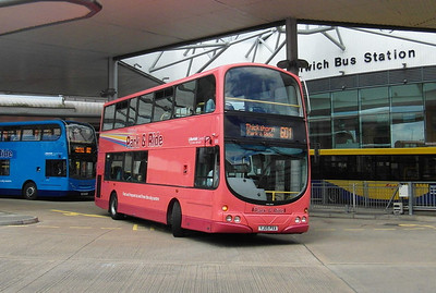 500 - YJ05PXA - Norwich (bus station) - 30.7.12