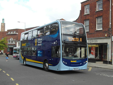 608 - SN61CZY - Norwich (Castle Meadow) - 30.7.12