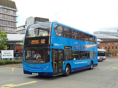 601 - SN10CFE - Norwich (bus station) - 30.7.12
