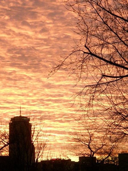 Sunrise in Cambridge. sept. 2007