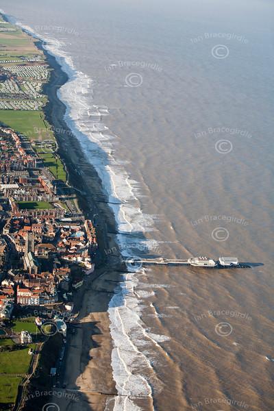Cromer beach from the air.