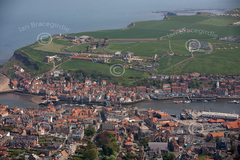 Aerial photo of Whitby.