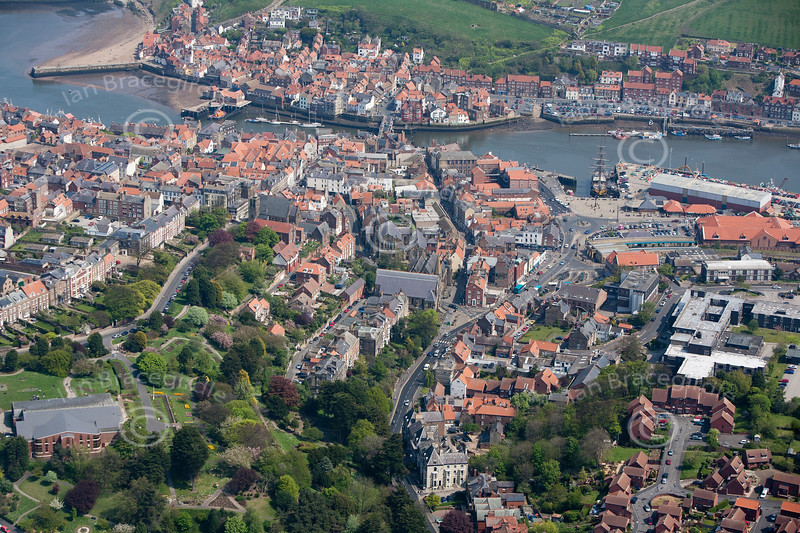 Whitby from the air.