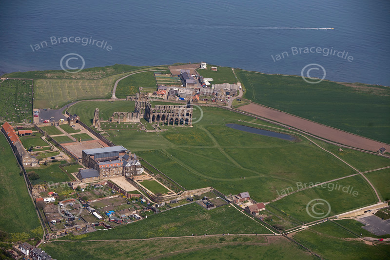 Whitby Abbey from the air.