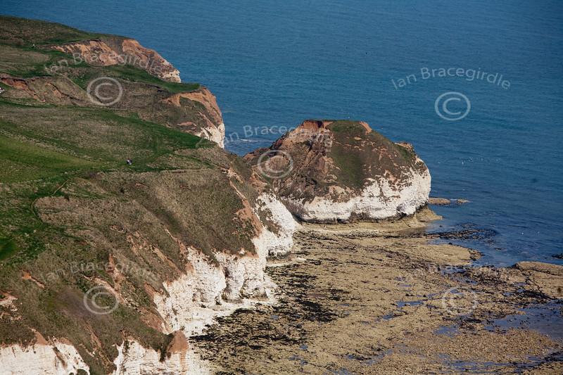 Flamborough Head from the air.