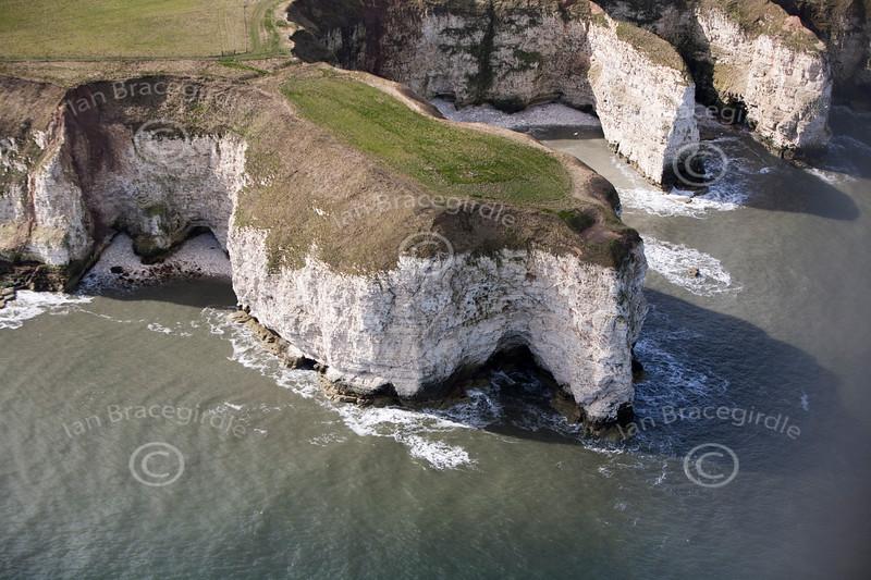 Aerial photo of Flamborough Head.