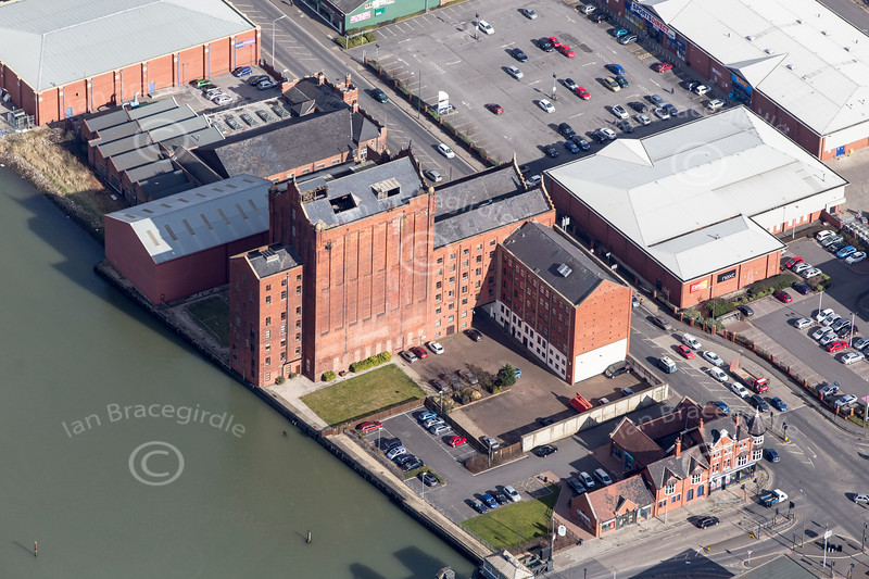 Grimsby from the air.