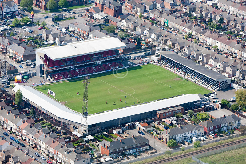 Blundell Park from the air.