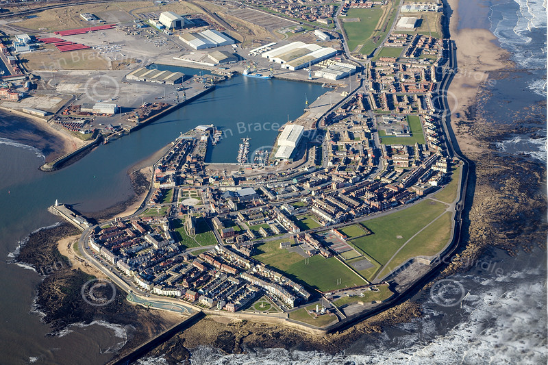 Hartlepool from the air.