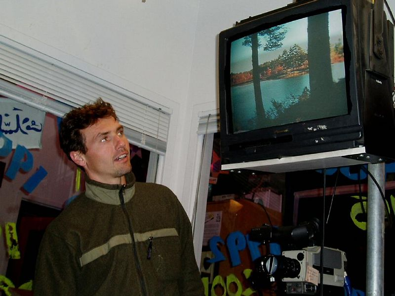 Oct. 2003<BR>Steve's cove on TV