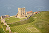 Scarborough Castle from the air.
