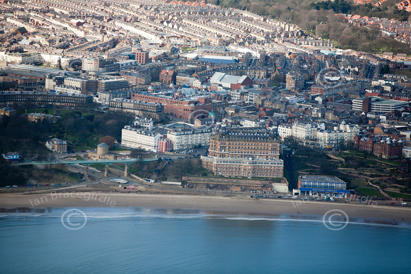 Scarborough from the air.