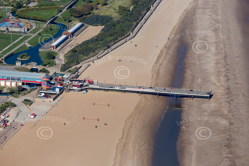 Aerial photo of Skegness in Lincolnshire.