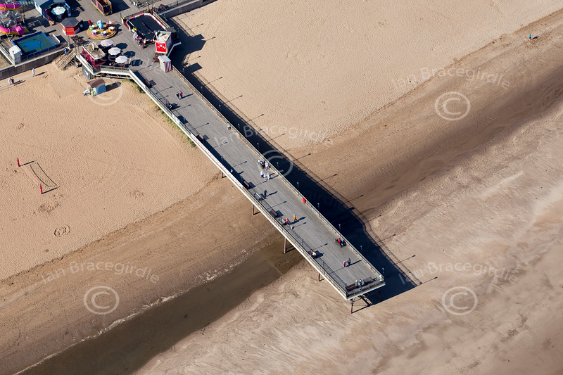 Aerial photo of Skegness pier in Lincolnshire.