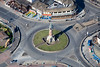 The Iconic Skegness clock tower from the air