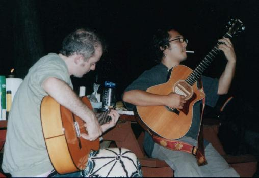 Blueberry 2003.<BR> Guitars at night