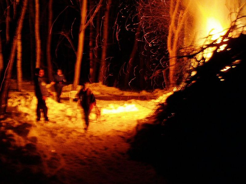 The biggest bonfire ever at Steve's place.<BR>Fire and ice weekend.<BR>Winter solstice, 2003