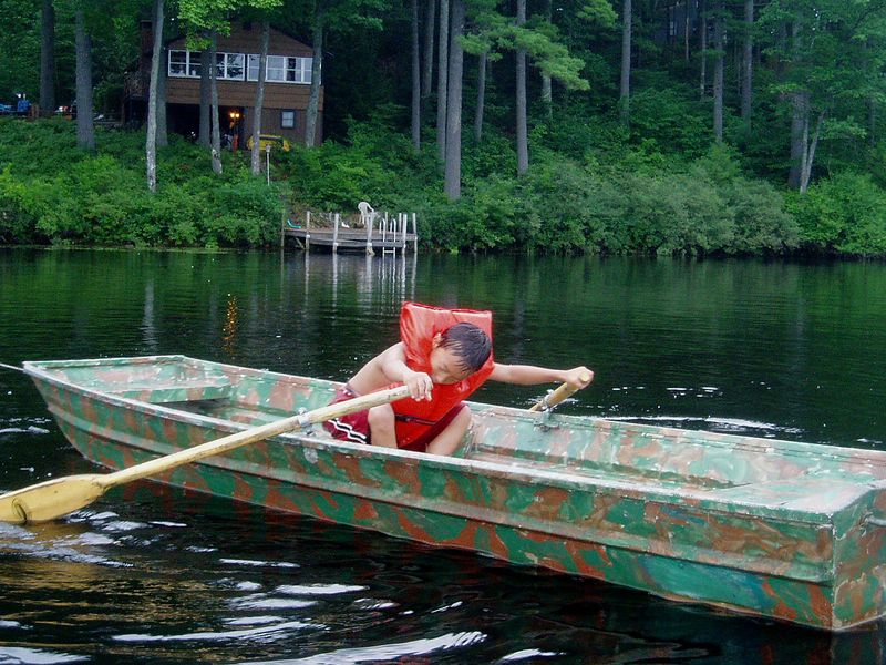 Blueberry 2003.<BR> Rowing hard