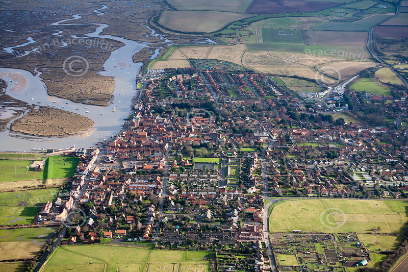 Wells Next the Sea from the air.