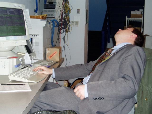 Paul working hard