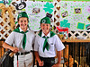 Kate Swanson, age 10, and Tori Vaca from Sagebrush 4H club. Kate's pig later won first place among 4-H pigs, and fifth place over all.