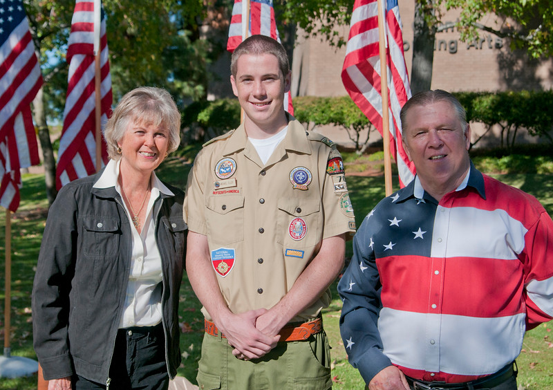 El Cajon Flags Veterans Day_4926