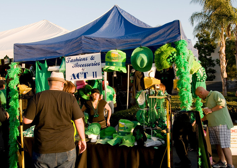 Hooleyfest in La Mesa St. Patrick's Day 2010 featuring festive accessories from Act II in La Mesa Village