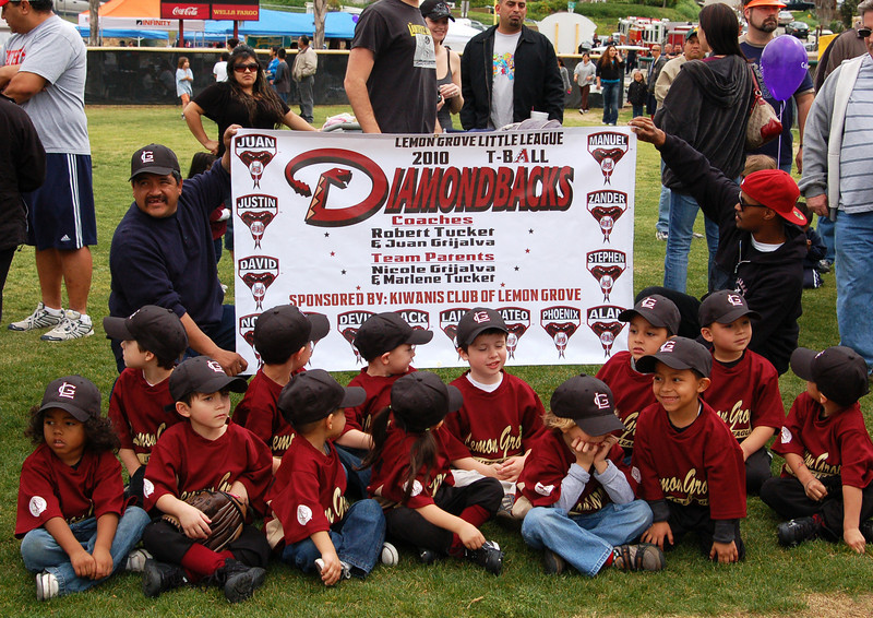 T-Ball Diamondbacks ready for their big debut East County San Diego
