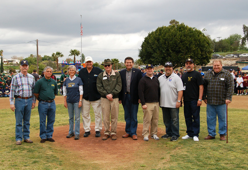 East County Chamber of Commerce Chairman of the Board Roger Roberts, Lemon Grove Councilmember Jerry Selby, County Supervisor Dianne Jacob, Vice President of Community Relations for Viejas Casino Chuck Hansen, Helix Water District Director Chuck Muse, Assemblyman Marty Block, Lemon Grove City Manager Graham Mitchell, David Doane, Art Martinez, Marcel Becker East County San Diego