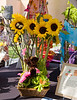 Floral arrangements by Beverly Ireland at Jasmine Creek Florist were inspired by the artists at St. Madeleine Sophie' s Center.