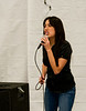 Sam's Club associate Diana Galindo shows her hidden talent by singing to her co-workers at the 10 year anniversary celebration. East County San Diego