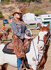 Bonnie Duke won 2nd place out of 23 competitors in the Extreme Cowboy Race at Vaquero Days in Descanso. She has been riding in the CCR circut this year and has just officially won 1st place in her division.  She will recieve a silver buckle, cash and prizes at an awards ceremony on Oct 29th. She also has had the honor of riding and trick roping off her trusty stead, Apache with the Broken Horn Roper in the Tournament of Rose Parade from 2004-2009. She does whip cracking and is a 2nd place gun spinning champion. Bonnie can also be seen in the Hobby Horse show clothes catalog. Vaquero Days 2010 - East County News San Diego