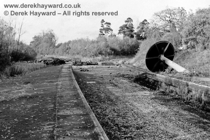 The remains of the High level station photographed on 2 November 1968 by Eric Kemp, who retains all rights to this image.  Note that the track remains in situ on the line towards Grange Road (on the left) and on St Margaret's curve (on the right).