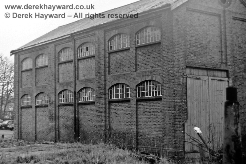 East Grinstead good shed, photographed by Eric Kemp on 20 December 1975.  Freight facilities were withdrawn from 10 April 1967 and the goods shed was demolished in 1976, soon after the picture was taken. Eric Kemp retains all rights to this image.